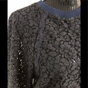 Zara Tops - NWOT ZARA lace sweatshirt
